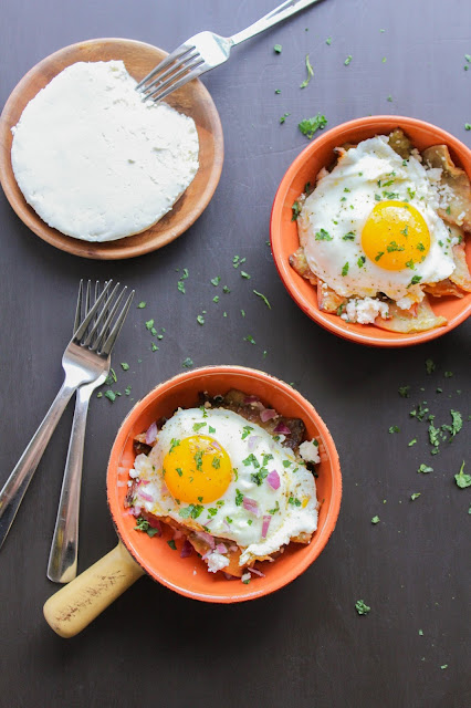 Breakfast Chilaquiles with Eggs | The Chef Next Door