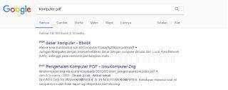Mencari tipe file tertentu di google