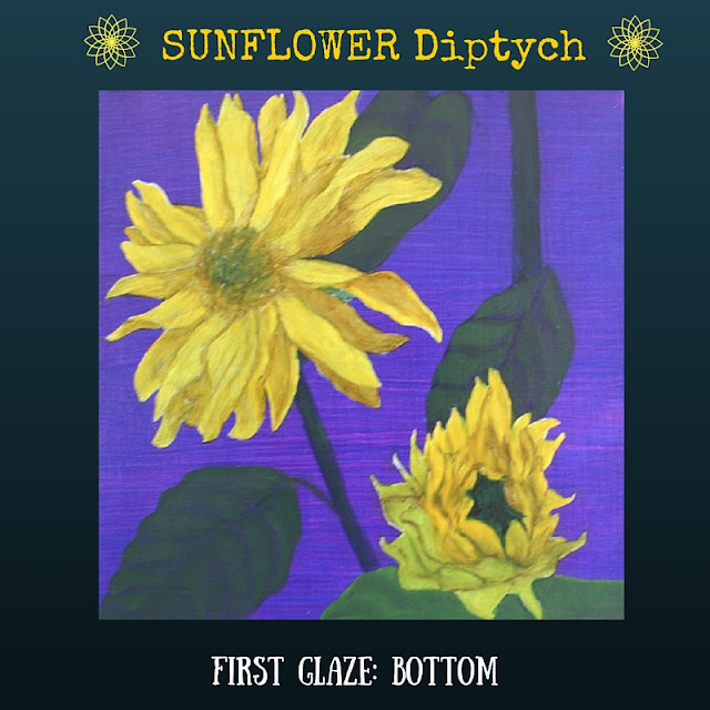 First color glazed layer for BOTTOM Sunflower