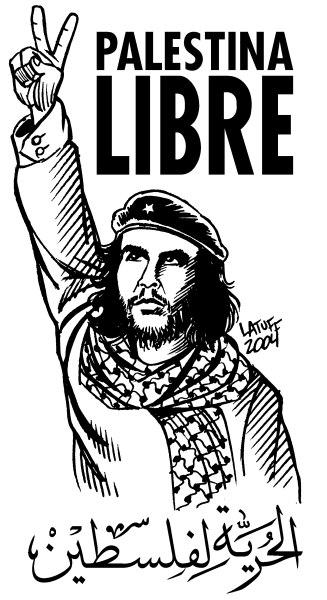 Palestina livre - Che Guevara - Charge de Latuff