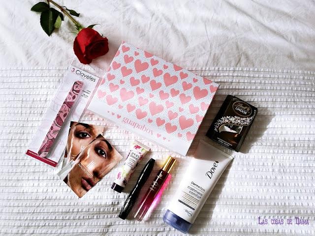Guapabox de Febrero beauty love belleza beautybox maquillaje bodycare mascarillas fragancia uñas