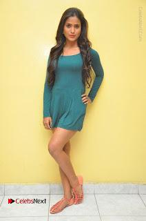Telugu Actress Prasanthi Stills in Green Short Dress at Swachh Hyderabad Cricket Press Meet  0115.JPG