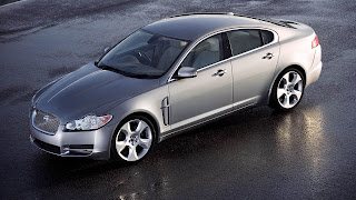Jaguar silver color car wallpapers