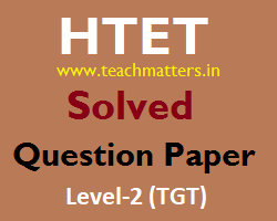 image : HTET Solved Question Paper 2015 Level-2 @ www.teachmatters.in