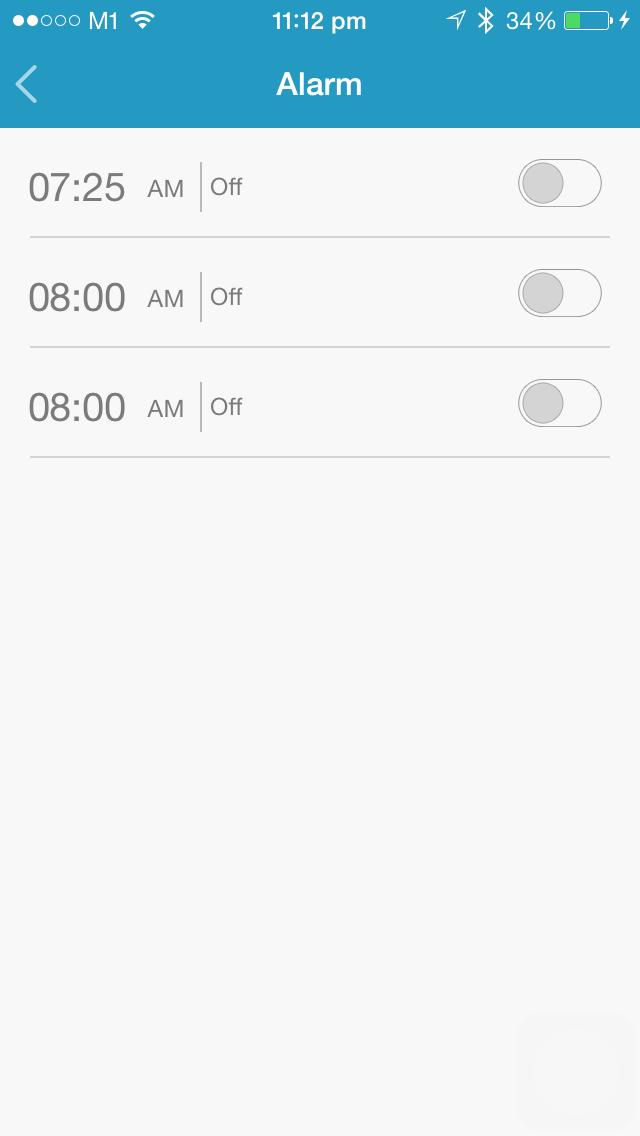 Preset Alarm timings