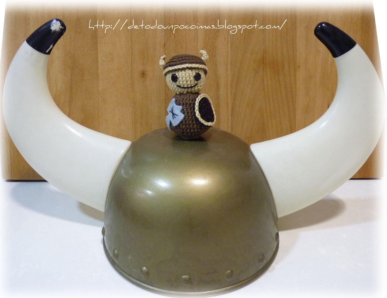 1 Vikingos 24 centimetros amigurumi Hacha y escudo gratis: Amazon ... | 1153x1500