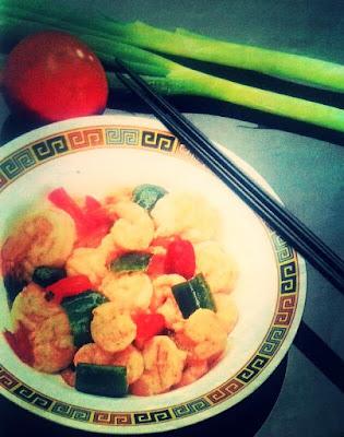 Resep Masakan Udang Dengan Cabe Merah dan Cabe Hijau Sederhana