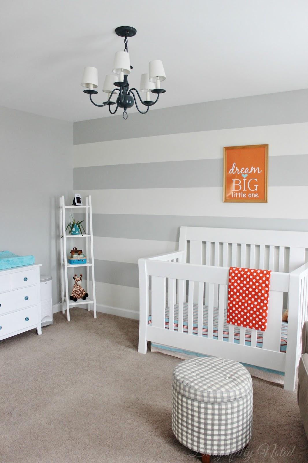 Delightfully Noted Home Tour - Modern Fresh Farmhouse Decorating Ideas - Little Boys Room Nursery