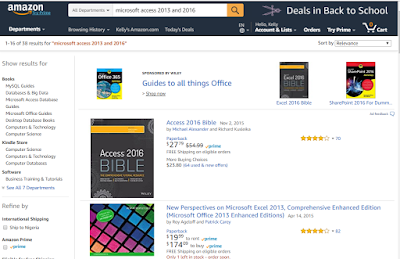 Screenshot: Amazon search result and format