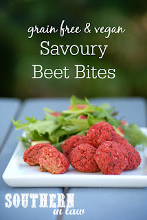 Vegan Savoury Beet Bites Recipe - meatless meatballs, beet balls, gluten free, vegan, grain free, egg free, dairy free, sugar free, low fat, low calorie, clean eating recipe