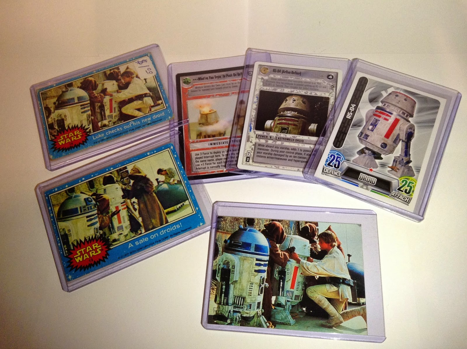 R5-D4 trading cards