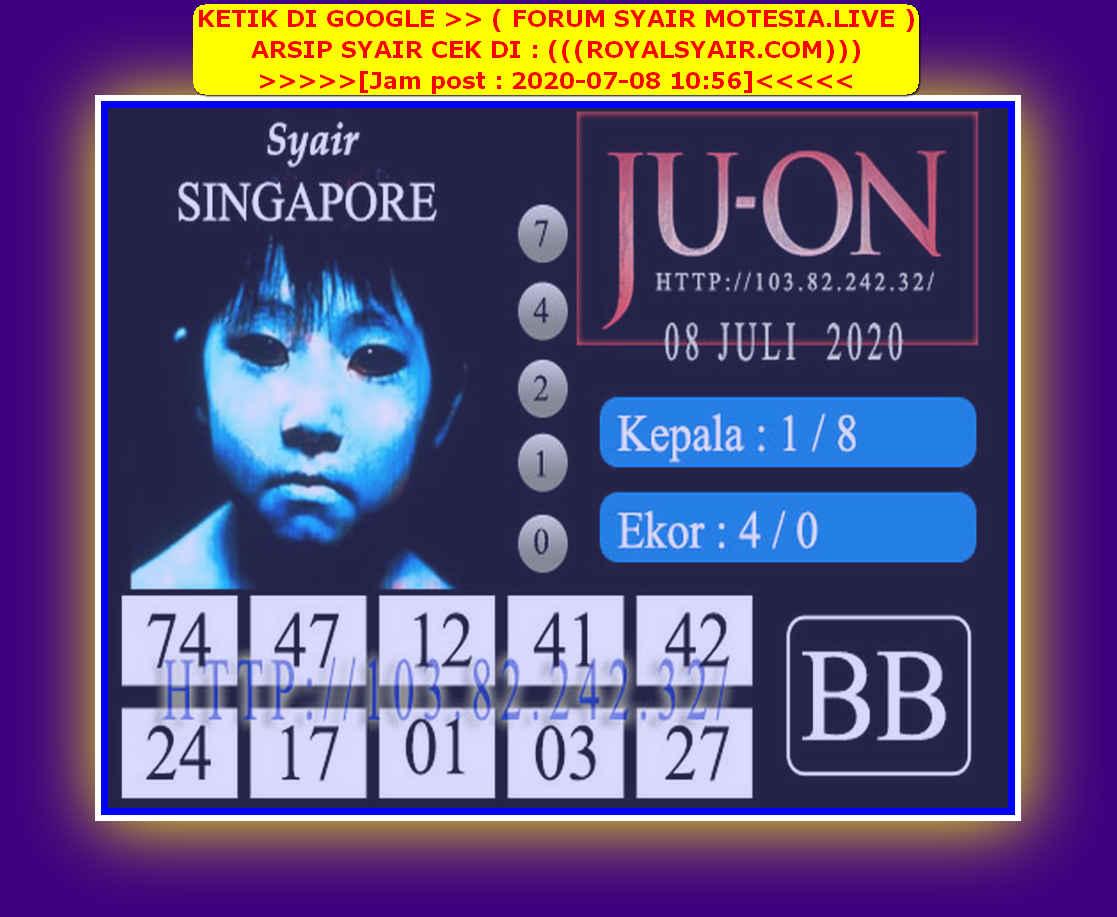 Kode syair Singapore Rabu 8 Juli 2020 107
