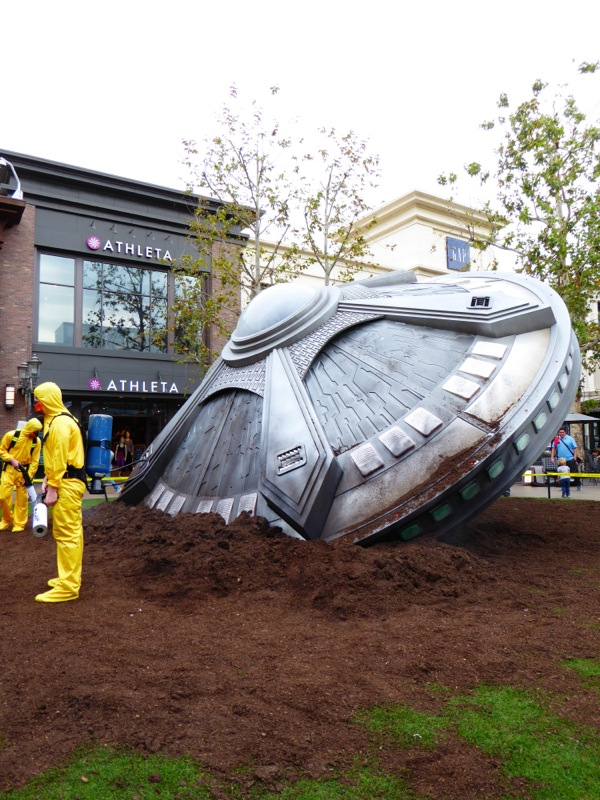 The X-Files crashed spaceship The Grove