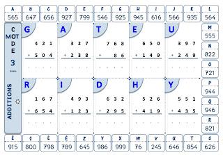 Trouver le code en effectuant des additions, soustractions, multiplications et divisions