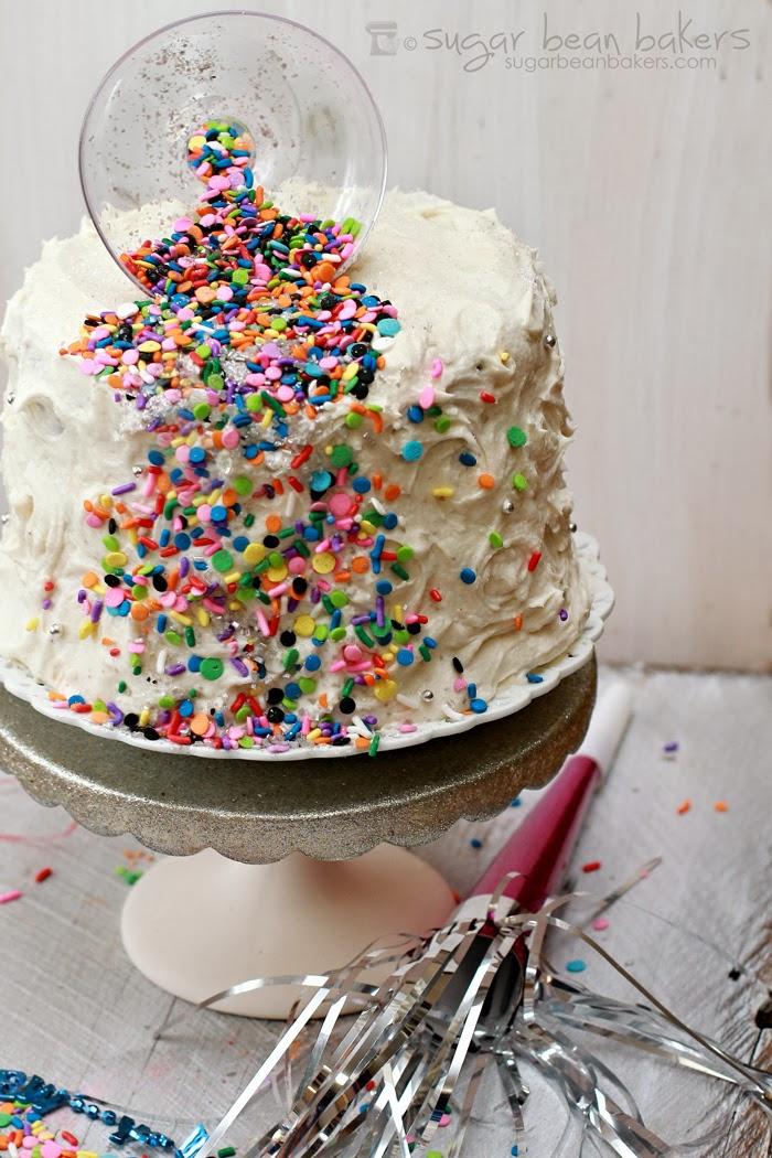 Sugar Bean Bakers: {Spilled Confetti Cake}