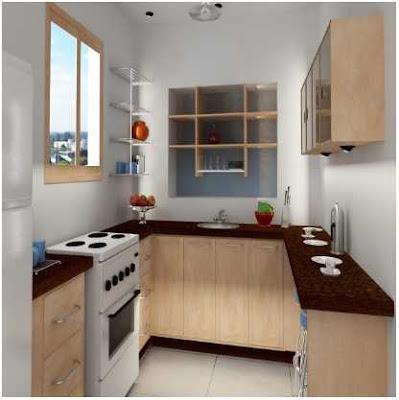 dapur minimalis ukuran 2x2 warna cream