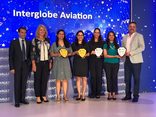 IndiGo voted for its best practices in Learning and Development at the TISS LEAPVAULT CLO Awards, 2018 (pr)