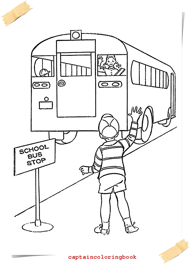 How To Draw School Bus For Baby Drawings And Coloring Pages Book Kids