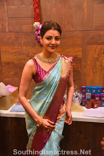 indian 2 tamil movie actress kajal agarwal grand launch of vidhatri shopping mall event Pictures 2
