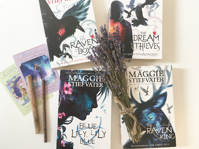 Book review of Maggie Stiefvater's The Raven Cycle: The Raven Boys, The Dream Thieves, Blue Lily Lily Blue, and The Raven King