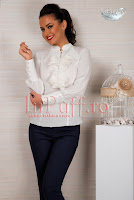 Bluza dama voal ivoire