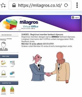 Cara Registrasi Member Milagros