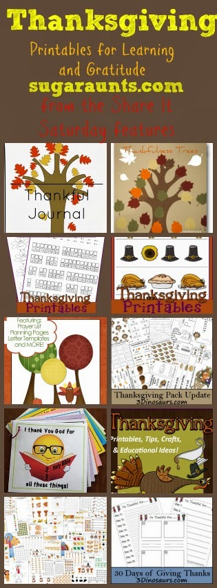 Thanksgiving Printables for Learning and Gratitude