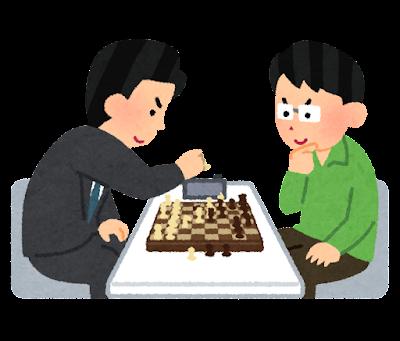 チェスの対局のイラスト