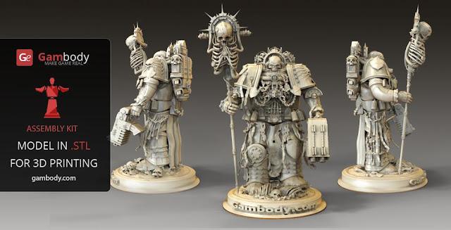 Warhammer40k Chaplain 3D printing