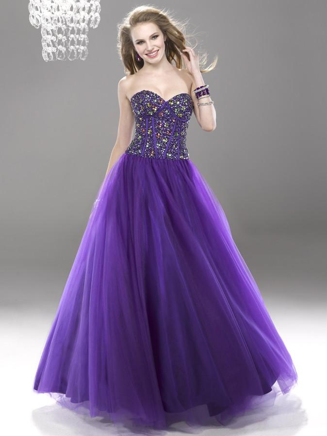 Stylish Fashion Gorgeous Purple Prom Dresses 2014