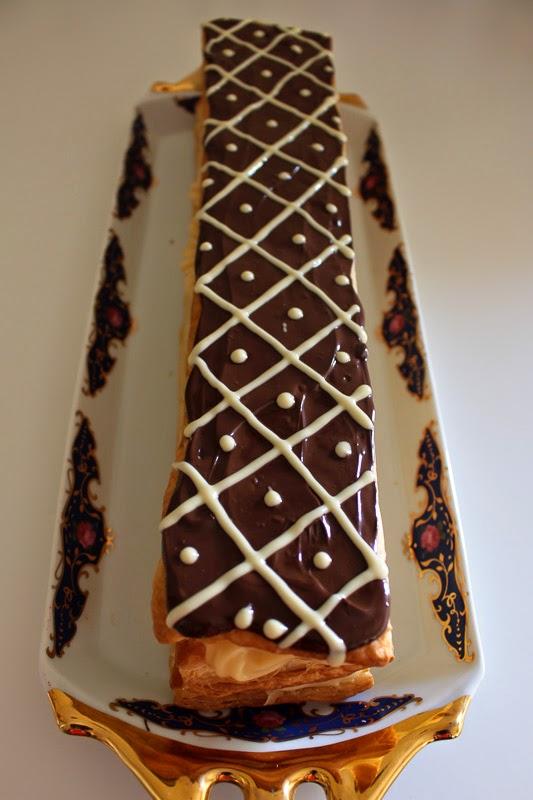 Folhado baunilha e chocolate