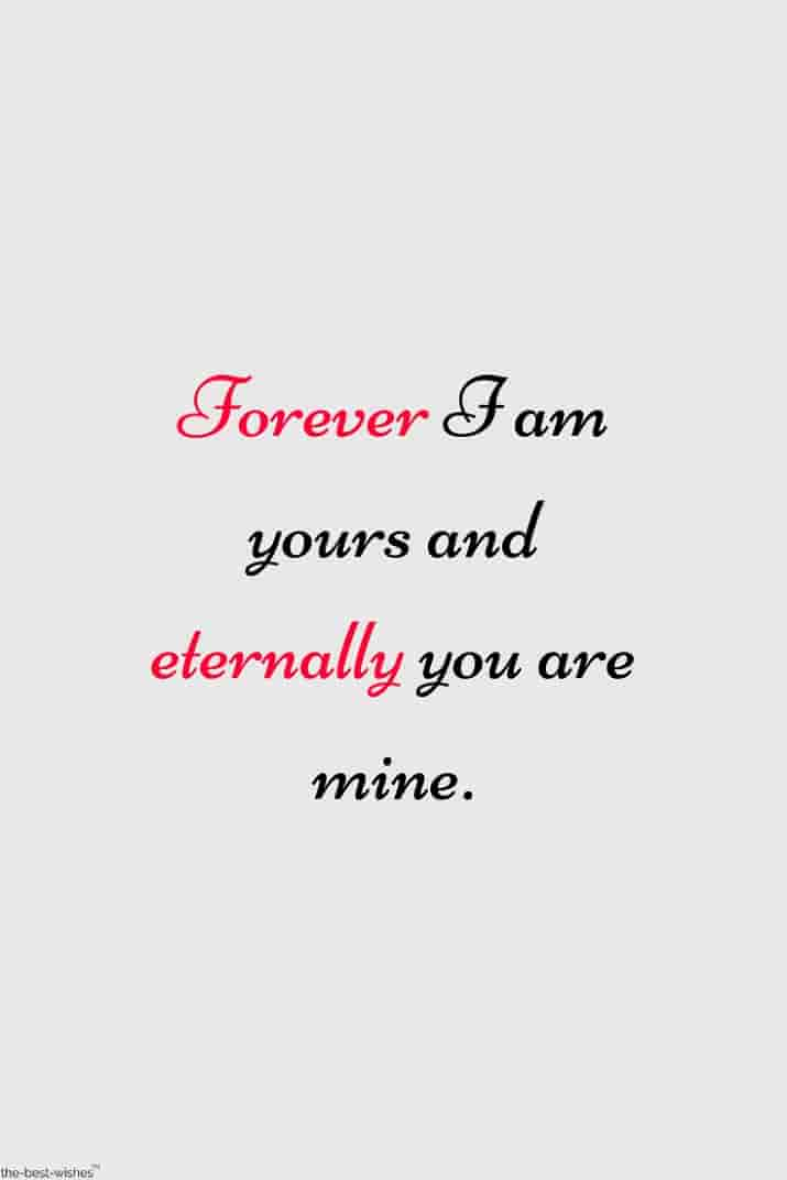 you are mine quote