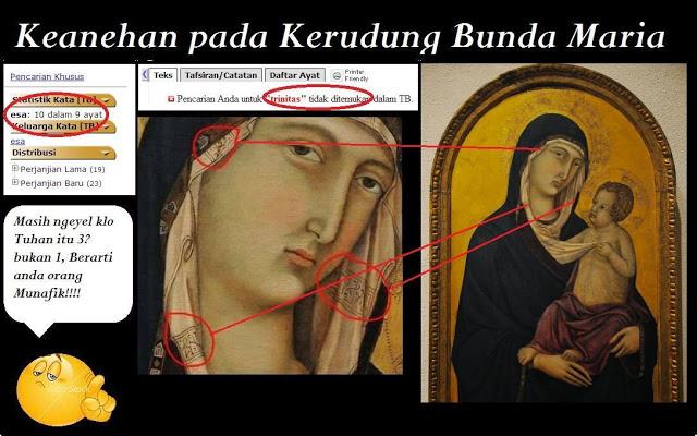 Kenapa Kerudung Bunda Maria Bertuliskan 'Laa Ilaaha Illallah'?