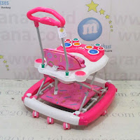 3 in One Baby Walker Family FB218A Drum Melodies with Rocking and Pusher