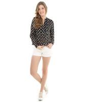 Dea'TwilightZone - shorts peça para menina