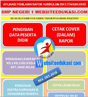 Aplikasi Raport SMP K13 Revisi 2018