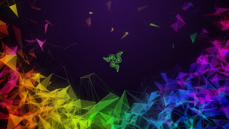 Razer Logo Abstract Colorful Background 4k 3840x2160