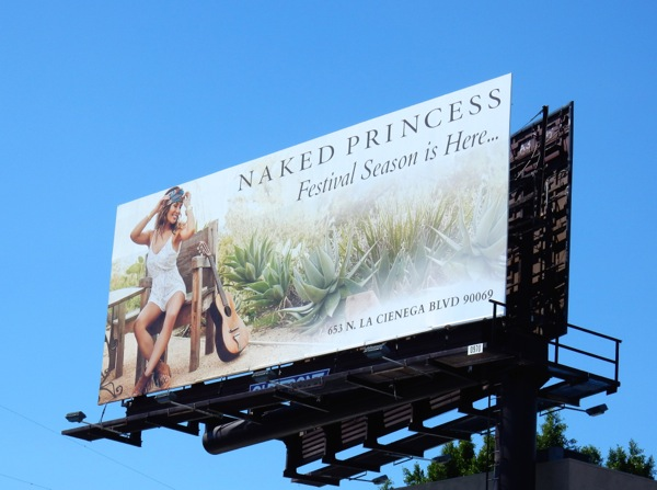 Naked Princess Festival season billboard