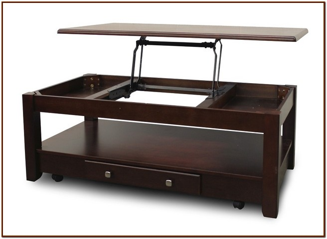 Coffee table lift top convenient furniture