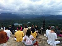 meditation at mount near Sivananda Ashram Neyyar Dam