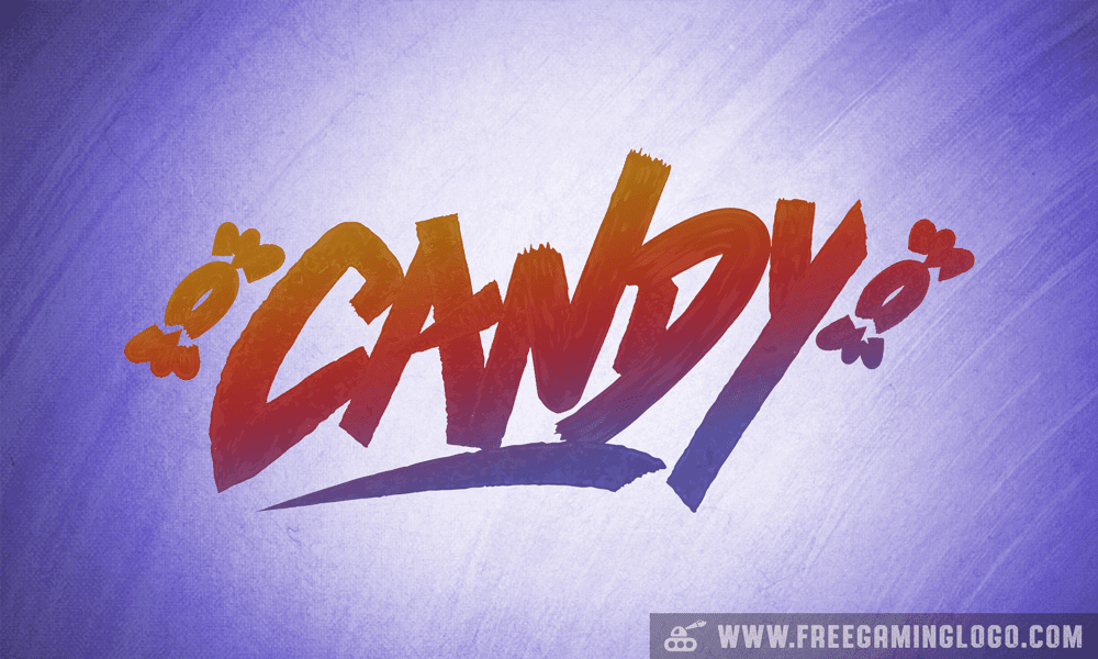 Candy hand lettering signature design