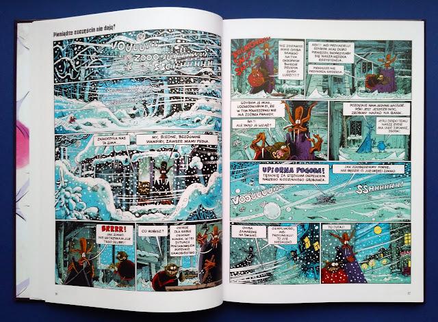 Przykładowe plansze z komiksu