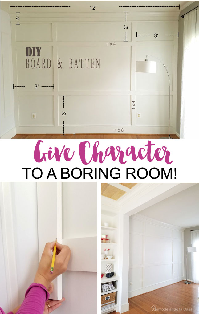 white on white wall treatment - Give Character to a boring room