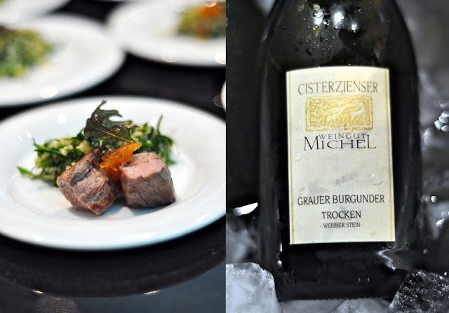 Taboulet mit Lammfilet und Grauburgunder Weißer Stein vom Cisterzienser Weingut Michel