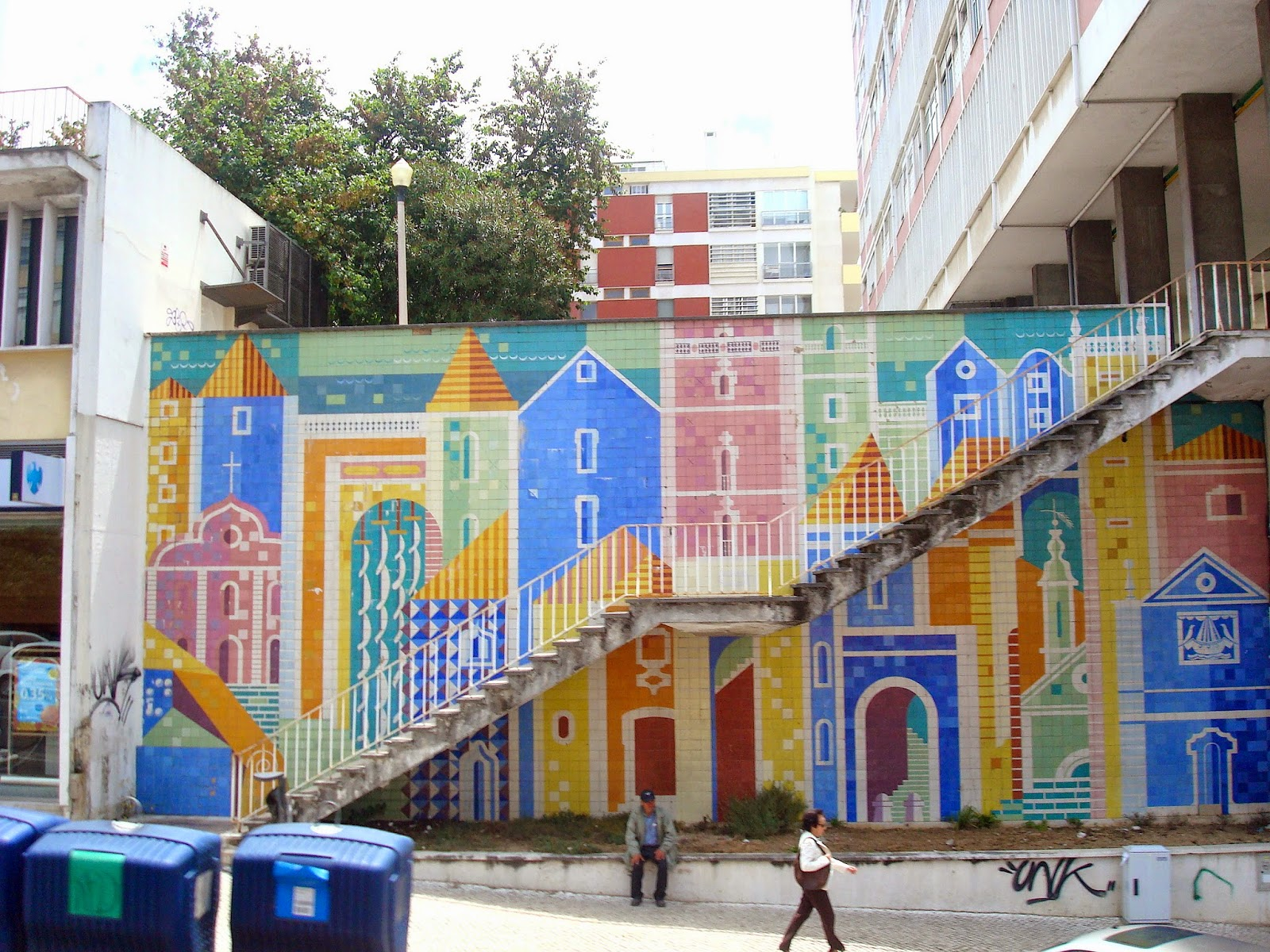 Azulejos, or Mosaic Tile Artwork in Lisbon, Portugal