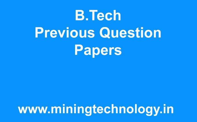 Btech question paper