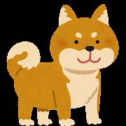 柴犬のイラスト(茶)