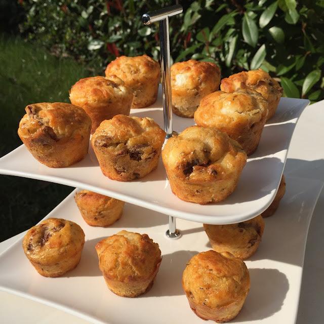Mini-muffins tomates séchées/chèvre