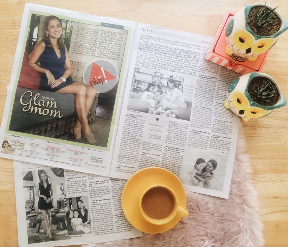 Cebu Fashion Blogger, Cebu Mommy Blogger, Cebu Lifestyle Blogger, Cebu Daily News Feature Toni Pino-Oca, Cebu Blogger, Mommy Blog,