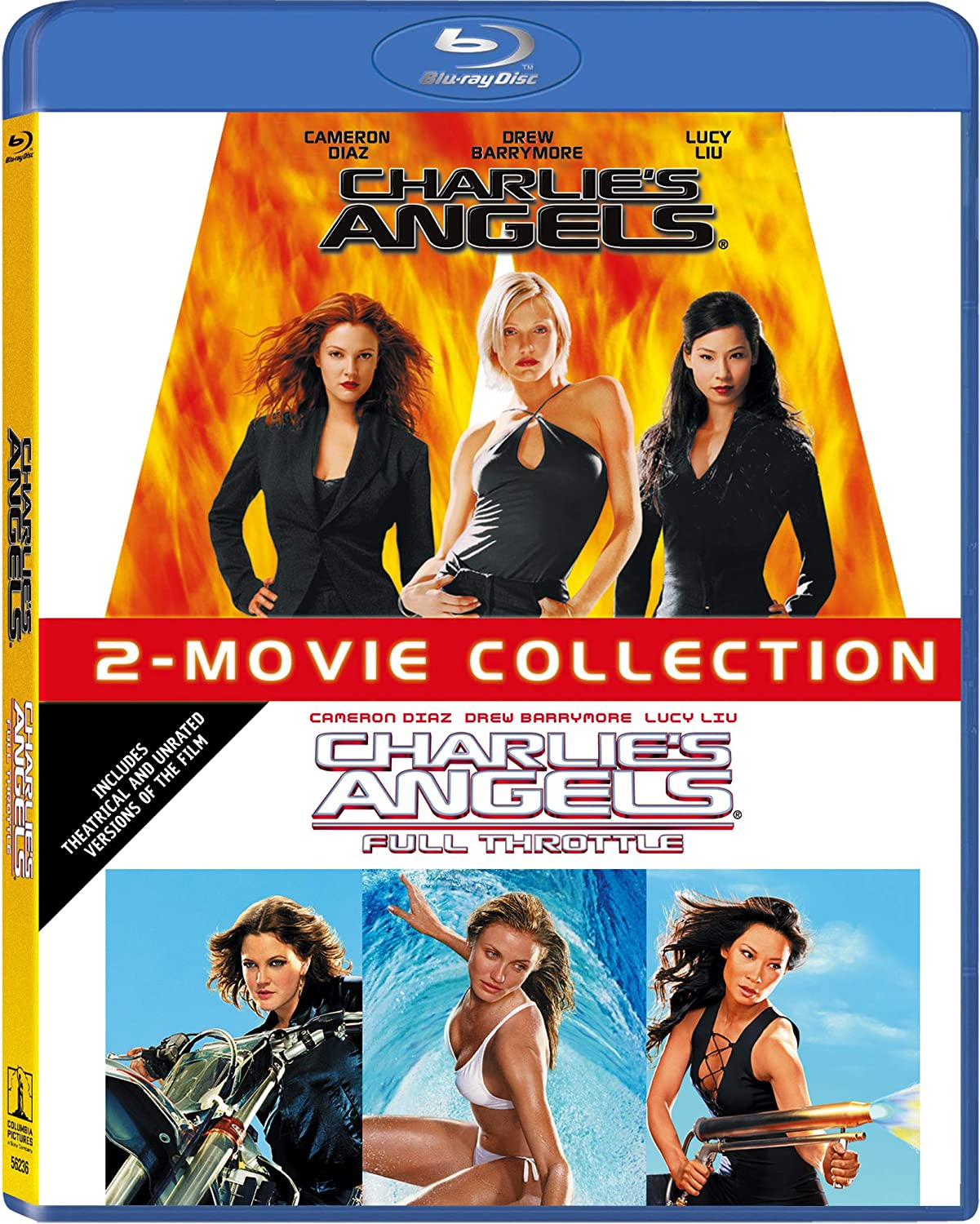 The Entertainment Factor New On Blu Ray Charlie S Angels 2000 And Charlie S Angels Full Throttle 2003 Double Feature
